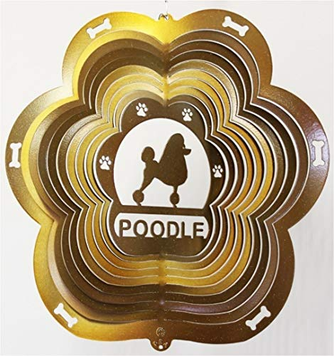 Stainless-Steel-Wind-Spinner-12-Animal-Dog-Breed-Poodle-Copper-Starlight-0