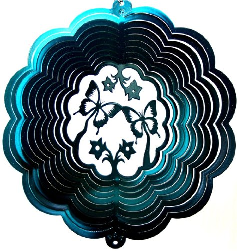 Stainless-Steel-Wind-Spinner-12-Butterfly-3D-Teal-Starlight-0