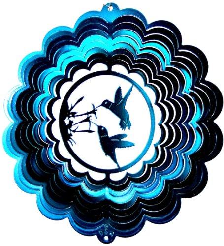 Stainless-Steel-Wind-Spinner-12-Hummingbird-Bird-Double-Teal-Starlight-0