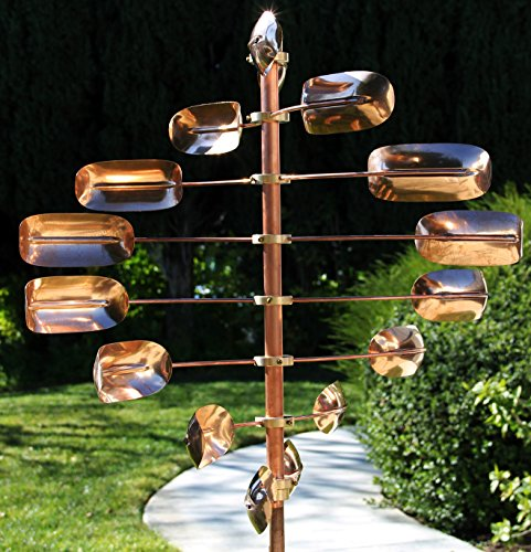 Stanwood-Wind-Sculpture-CWS-06-Kinetic-Lucky-8-Twirler-Copper-Wind-Spinner-0-0