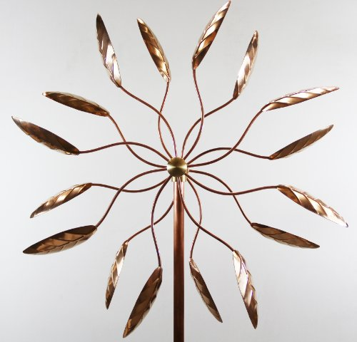 Stanwood-Wind-Sculpture-Kinetic-Copper-Wind-Sculpture-Dual-Spinner-Spinning-Ficus-Leaves-0