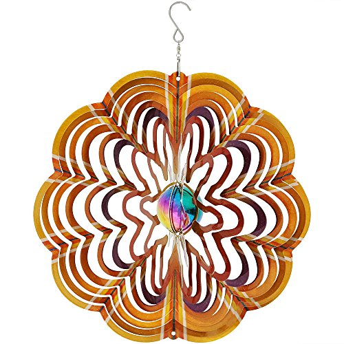 Sunnydaze-12-Inch-Reflective-Gold-Dust-3D-Whirligig-Wind-Spinner-Options-Available-0
