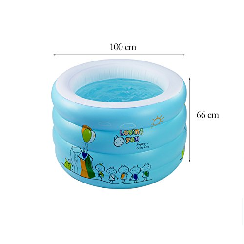 TYCGY-Childrens-Inflatable-Swimming-Pool-Baby-Household-Large-Size-Circular-Swimming-Bucket-100×66-cm-0-0