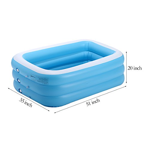 TYCGY-Rectangular-PoolBaby-Family-Swimming-PoolThick-Material-Swimming-Pool-Children-51-Inch-0-0