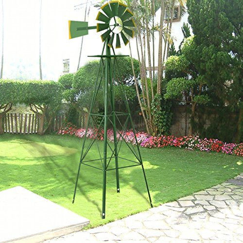 Tangkula-8FT-Windmill-Yard-Garden-Metal-Ornamental-Wind-Mill-Weather-Vane-Weather-Resistant-0-0
