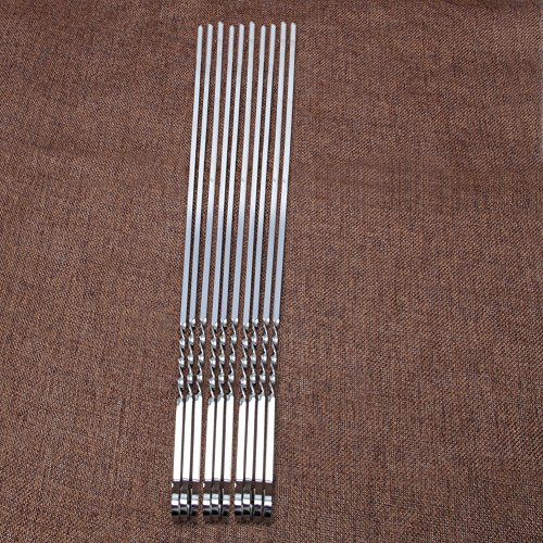 Tebatu-10-Pcs-Stainless-Steel-Flat-Meat-Skewers-For-Outdoor-BBQ-Barbecue-0-2