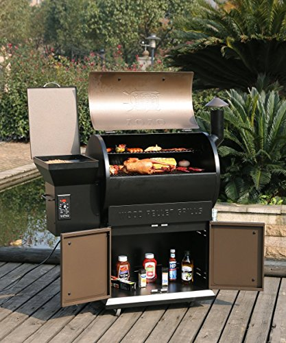 Tenive-679sq-22K-BTU-Wood-Pellet-Grill-Smoker-2-Levels-Cooking-Rack-3-Year-Warranty20-Lbs-Hopper-Capacity-BBQ-Grills-w-Digital-Thermostat-Controller-and-Electronic-Auto-start-Ignition-0-1