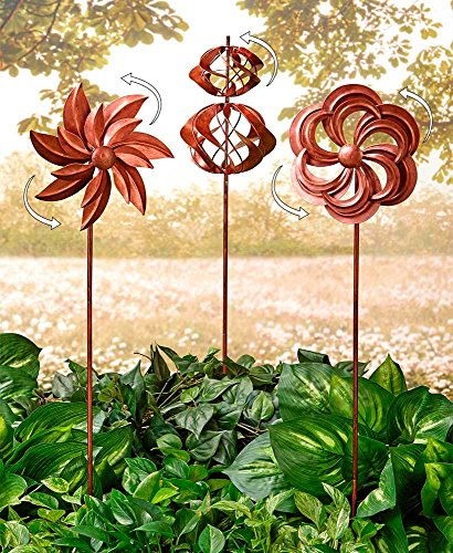 The-Lakeside-Collection-Set-of-3-Classic-Garden-Wind-Spinners-0