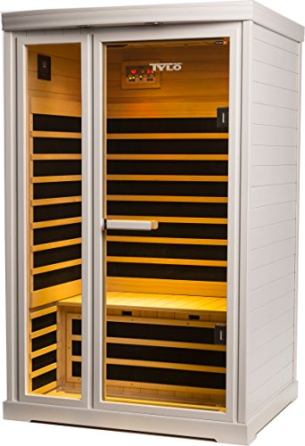 Tylo-9808-120-IG820-LH-120V-15-Amp-Premium-Low-EMR-2-Person-Infrared-Sauna-44-by-48-by-77-White-0