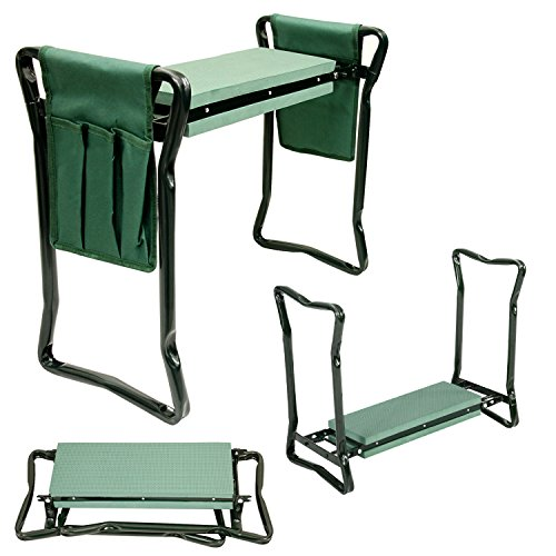 US-Garden-Supply-Foldable-Garden-Kneeler-and-Seat-with-2-Tool-Pouches-Soft-EVA-Foam-Knee-Pad-Cushion-Portable-Folding-Stool-Bench-Chair-0