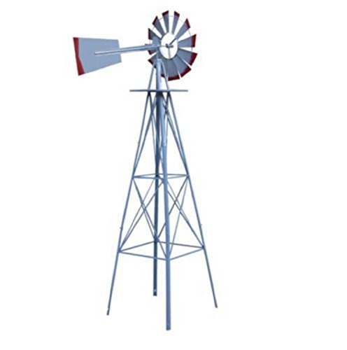 USA-Premium-Store-Metal-8FT-Windmill-Yard-Garden-Decoration-Weather-Rust-Resistant-Wind-Spinners-0-0
