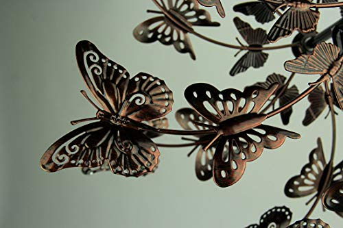 Upper-Deck-LTD-Aged-Copper-Finish-Butterfly-Garden-Twirler-Kinetic-Wind-Spinner-Stake-0-2