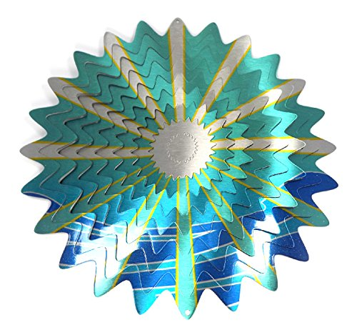 WorldaWhirl-Whirligig-3D-Wind-Spinner-Hand-Painted-Stainless-Crystal-Twister-Bundle-12-Inch-Set-of-4-0-1