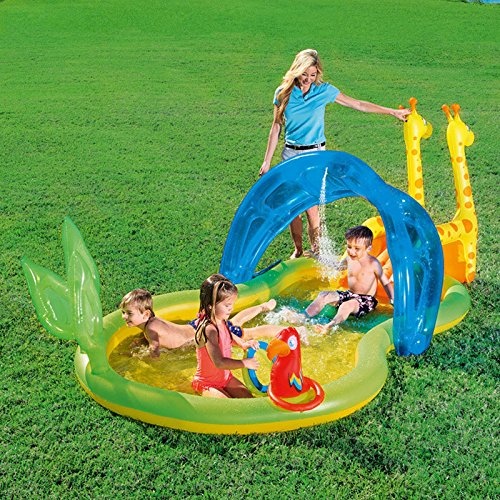 XiYunHan-Inflatable-Swimming-Pool-Ocean-Ball-Pool-Baby-Child-Paddling-Pool-Thicken-Sand-Pool-Animal-2-3-People-0