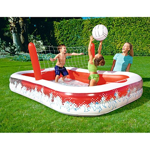 XiYunHan-Inflatable-Swimming-Pool-Ocean-Ball-Pool-Child-Paddling-Pool-Volleyball-Thicken-Multiplayer-red-White-0-1