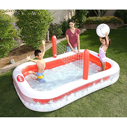 XiYunHan-Inflatable-Swimming-Pool-Ocean-Ball-Pool-Child-Paddling-Pool-Volleyball-Thicken-Multiplayer-red-White-0-2