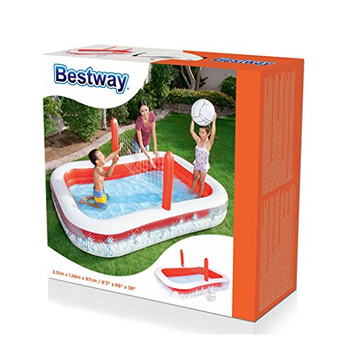 XiYunHan-Inflatable-Swimming-Pool-Ocean-Ball-Pool-Child-Paddling-Pool-Volleyball-Thicken-Multiplayer-red-White-0