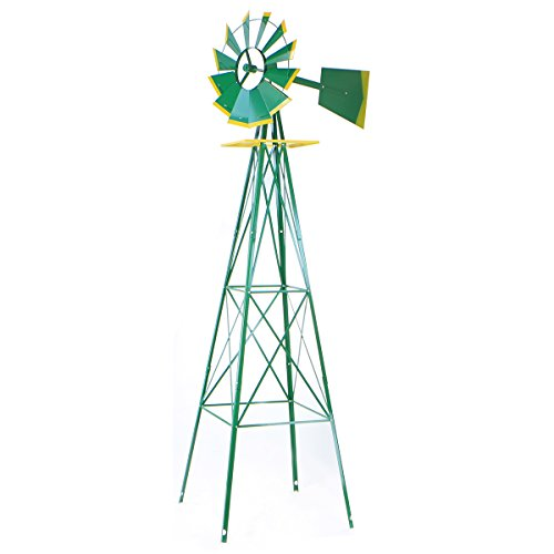 XtremepowerUS-8FT-Green-Metal-Windmill-Yard-Garden-Wind-Mill-0
