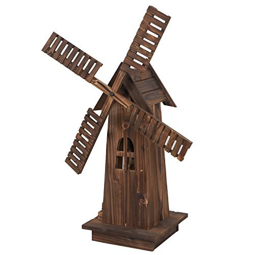 ZENY-Decorative-Wooden-Windmill-Classic-Old-Fashioned-Wind-Mill-Holland-Style-Lighthouse-Outdoor-Yard-Garden-Home-Decor34-0