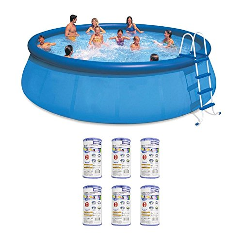 oldzon-18-x-48-Inflatable-Easy-Set-Above-Ground-Pool-Set-Filter-Cartridge-6-With-Ebook-0